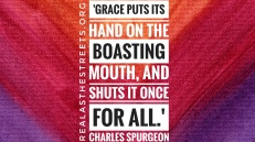 charles spurgeon quote on canvas background